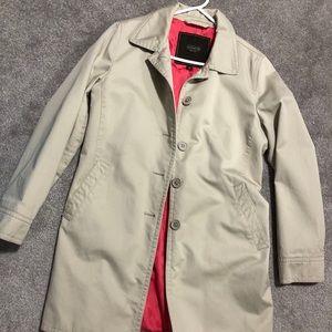 Coach beige trench coat